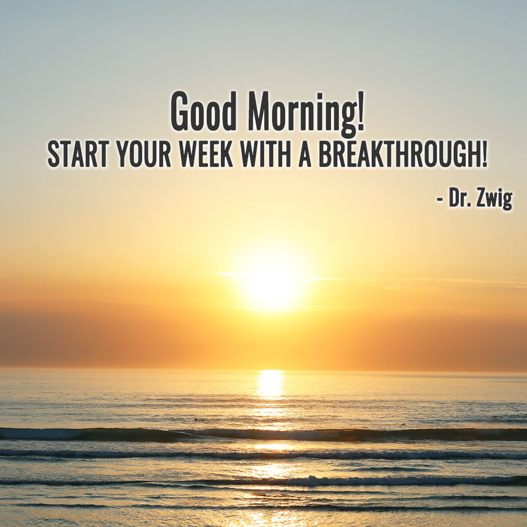 Start your week with a breakthrough!